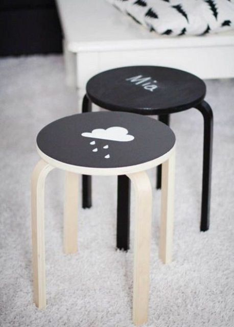 06-cover-the-stools-with-chlakboard-paint-to-let-your-kids-chalk-on-them