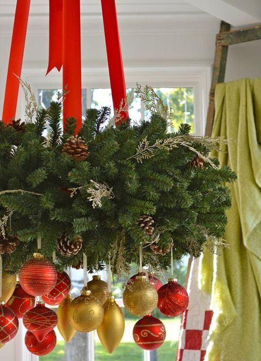 06-lush-evergreen-wreath-with-red-ribbon-and-red-and-gold-ornaments