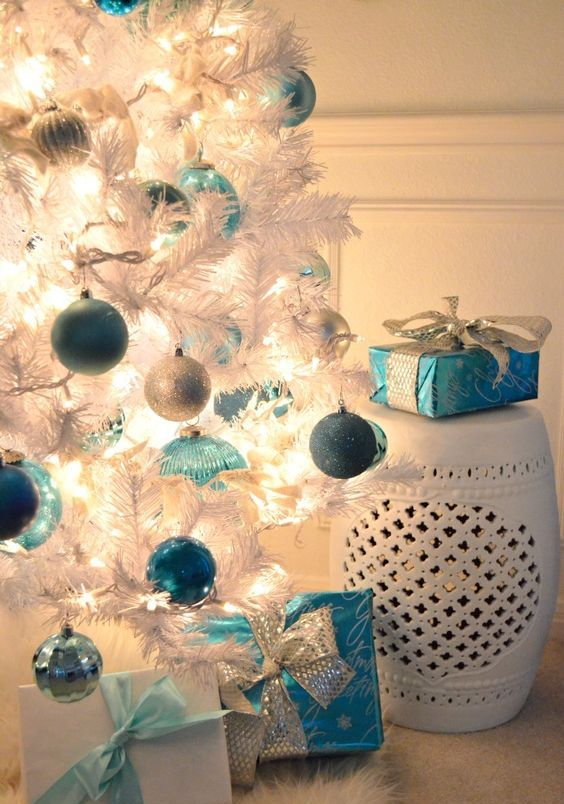 07-blue-light-blue-silver-ornaments-on-a-white-Christmas-tree
