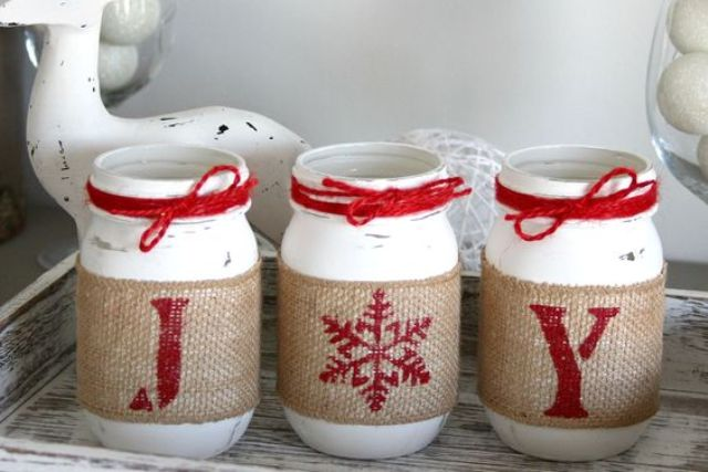 07-red-and-white-mason-jar-candle-lanterns-with-printed-burlap