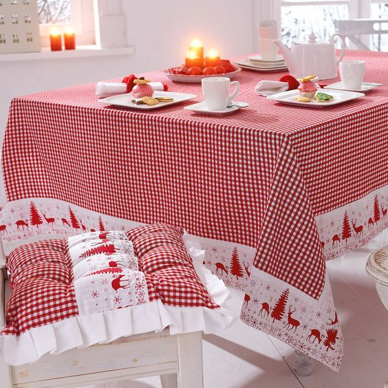 08-Scandinavian-red-and-wwhite-tablecloth-and-chair-cushions