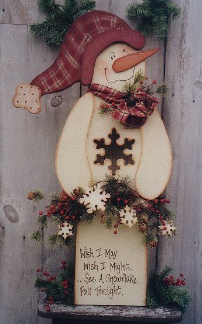 09-cutout-wooden-snowman-with-a-sign-looks-cute