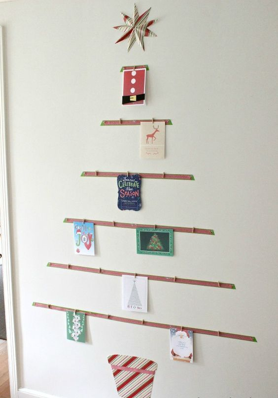 10-tree-shaped-card-display-on-the-wall-is-a-great-idea-to-sort-them-all