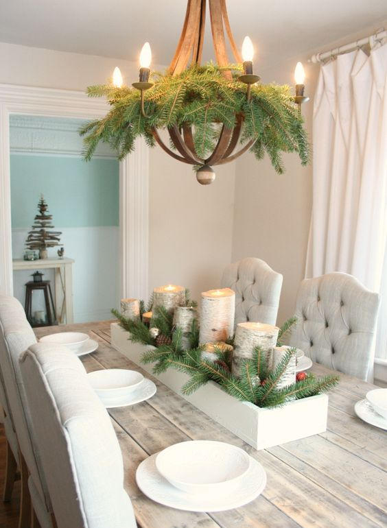 14-easy-evergreen-decor-for-your-chandelier