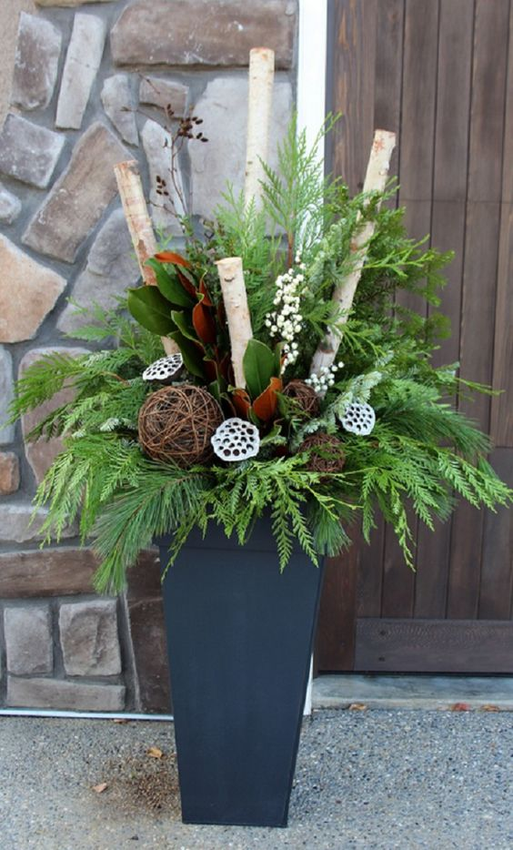 15-a-holiday-container-with-evergreens-branches-lotus