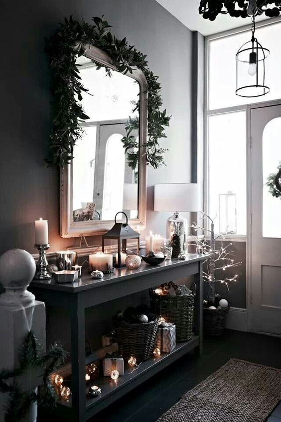 16-decorate-your-entryway-in-moody-colors-and-spruce-the-decor-with-lots-of-candles-and-lights