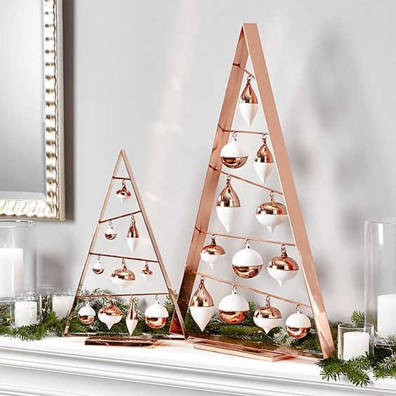 20-A-frame-ornament-trees-shape-a-tree-like-triangle-of-copper-plated-stainless-steel