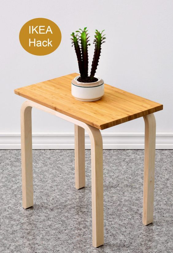 20-change-the-top-of-Frosta-stool-for-a-square-tabletop-to-use-it-as-a-side-table-or-plant-stand