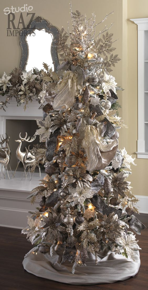 21-unique-silver-and-white-Christmas-tree-made-of-ornaments-and-decorations