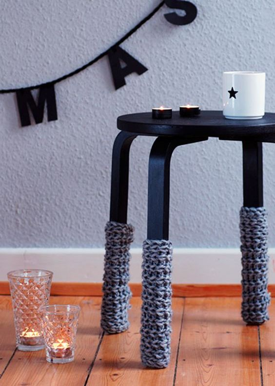 24-Frosta-stool-painted-black-and-with-crochet-leg-covers-to-embrace-the-winter
