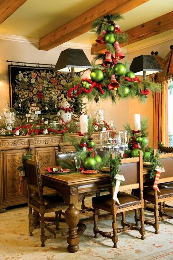 25-evergreens-large-bells-and-oversized-green-ornaments
