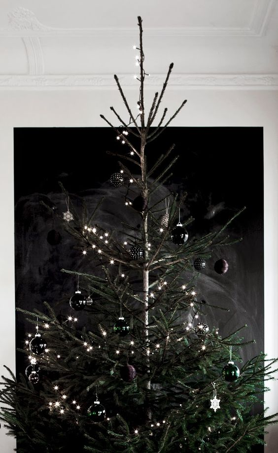 25-glossy-black-Christmas-ornaments-and-lights-for-a-chic-tree