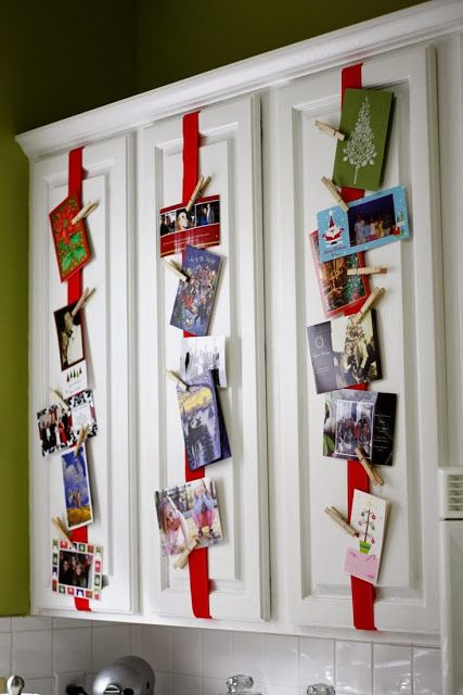 26-attach-red-ribbon-to-the-cabinets-and-then-cards-on-it