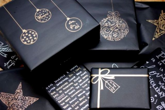 27-use-metallic-sharpies-on-black-gifts-wrappings
