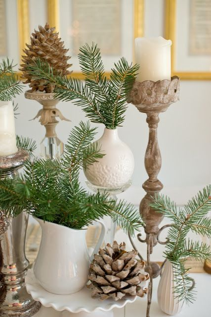 28-large-pinecones-evergreens-and-candles-are-perfect-for-decorating-a-table