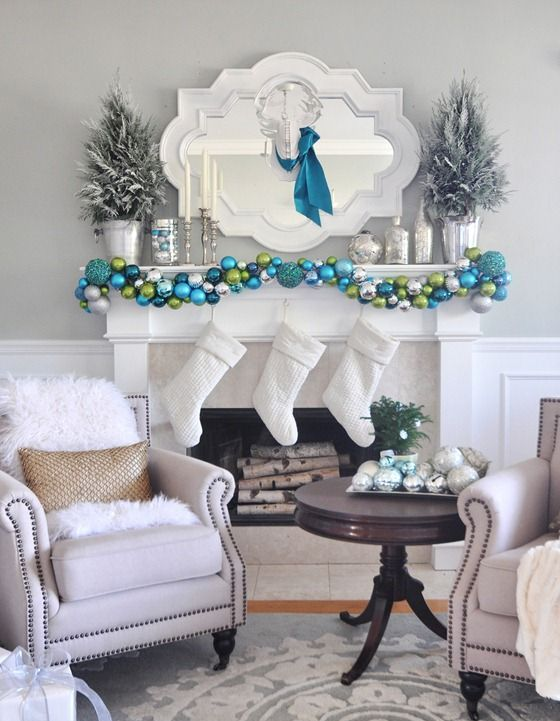28-white-stockings-an-ornament-garlands-of-various-shades-of-blue-and-green