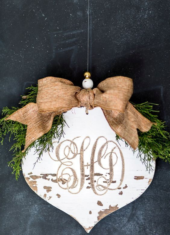 30-carved-monogram-into-a-rustic-wood-Christmas-ornament