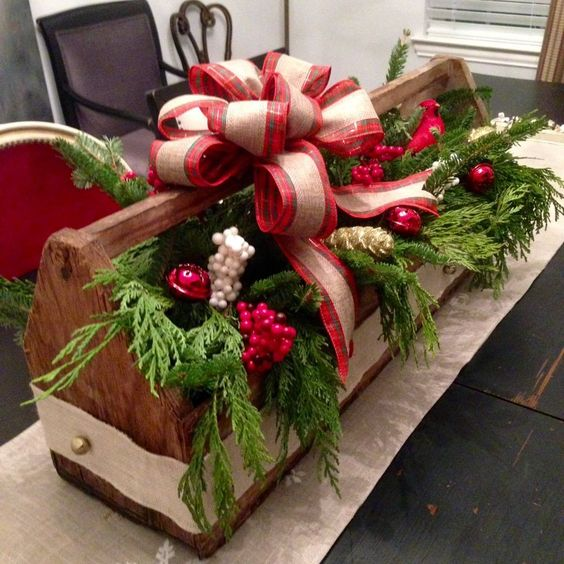 33-a-vitnage-toolbox-may-be-used-for-arrangements-fill-it-with-evergreens-ornaments-and-berries