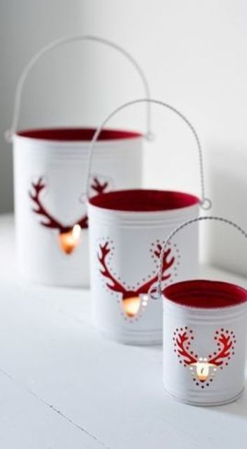 34-white-tin-can-lanterns-with-red-inner-side-and-deer-cutouts
