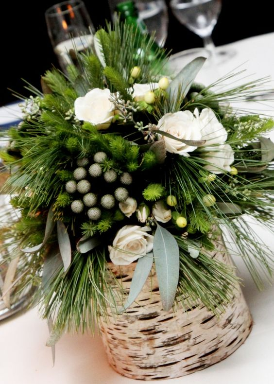 35-birch-bark-container-with-evergreens-berries-and-flowers
