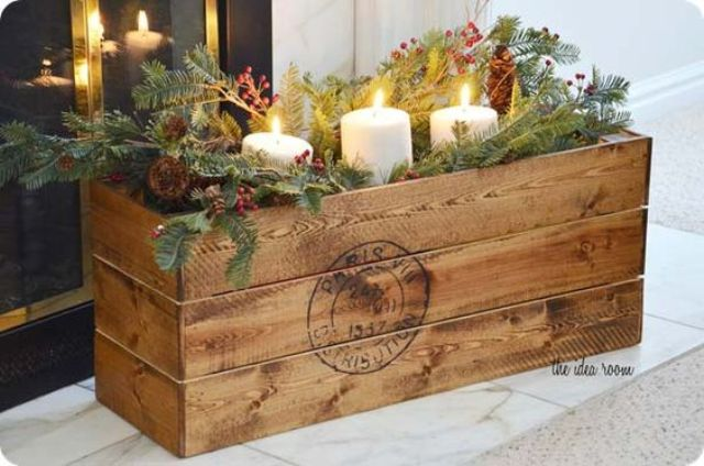 38-vintage-crate-filled-with-winter-stuff-for-centerpieces-and-decor