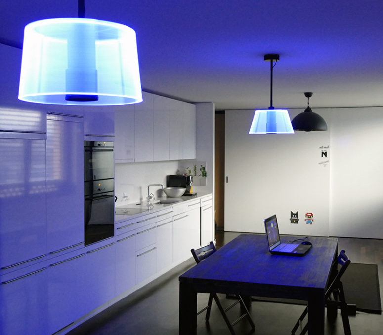 03-Blue-3D-lampshade-in-the-kitchen-with-an-ambiance-light-775x679