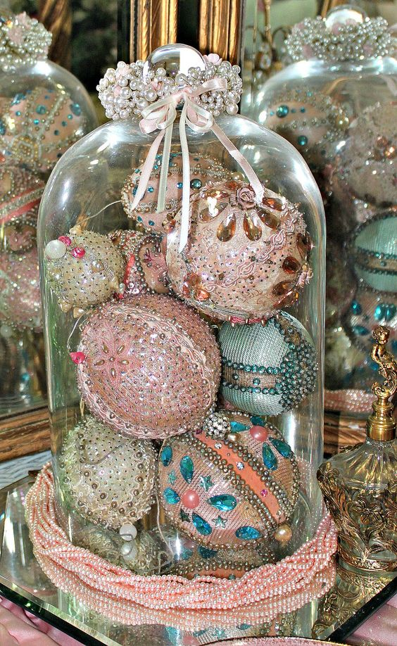 03-beaded-sequined-and-sparkled-vintage-ornaments-in-a-cloche