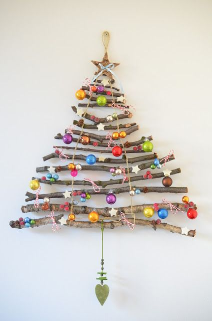 03-stick-wall-Christmas-tree-with-colorful-ornaments