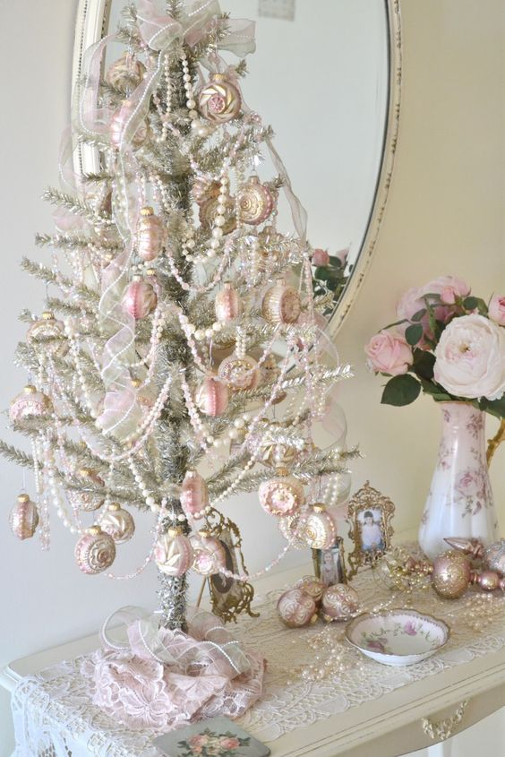 06-unique-silver-tabletop-tree-with-white-beads-and-pink-ornaments