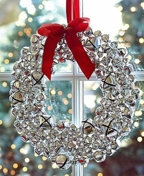07-silver-jingle-bells-wreath-with-a-red-bow