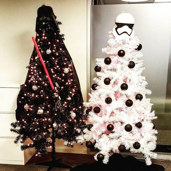 10-black-Darth-Vader-tree-with-a-lightsaber-and-a-white-Storm-Trooper-tree-with-black-ornaments