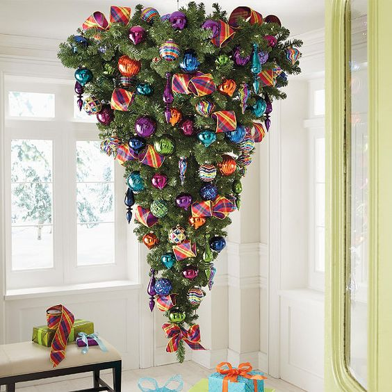 12-an-upside-down-tree-with-colorful-glossy-ornaments