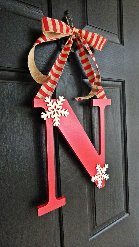 13-simple-red-monogram-door-hanger-with-striped-ribbon