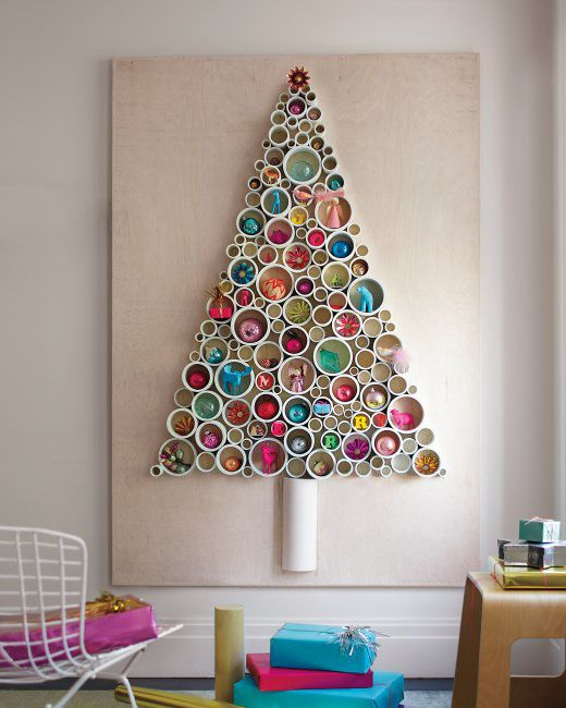 20-PVC-pipe-Christmas-tree-with-ornaments-put-inside