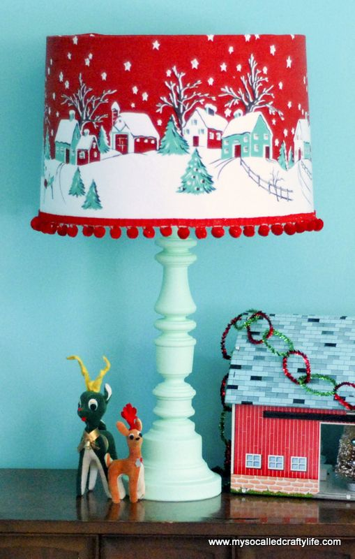 31-retro-Christmas-tablecloth-turned-into-a-lampshade