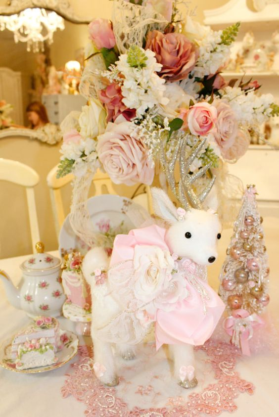 33-pink-princess-reindeer-and-pink-lace-will-be-great-for-kids-room-shabby-chic-decor