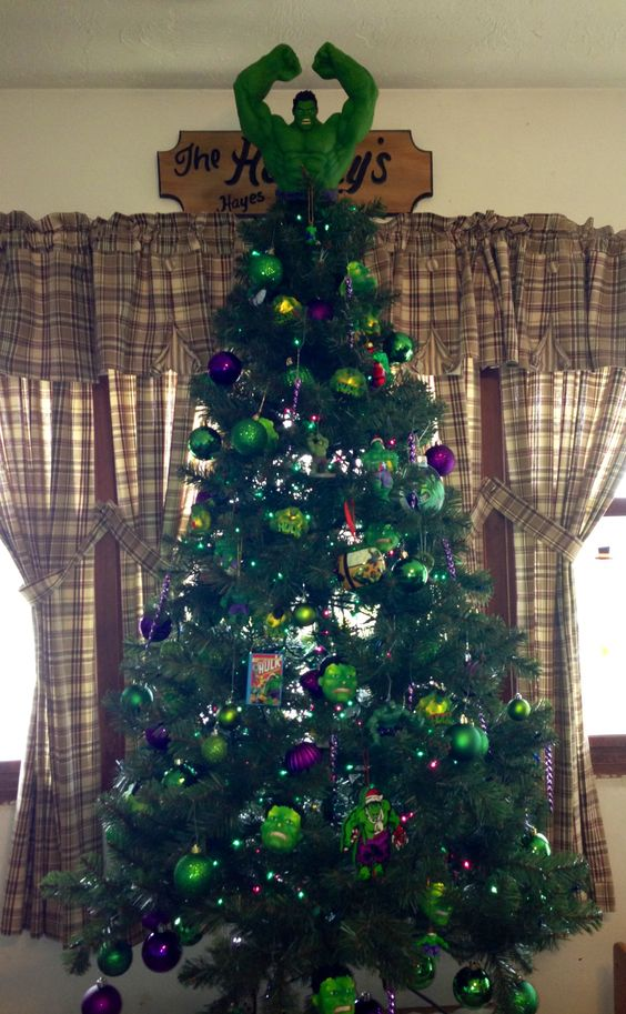 35-bold-Hulk-Christmas-tree-in-purple-and-green