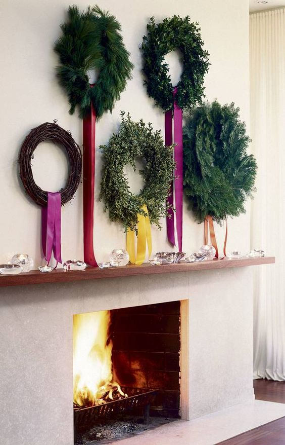 35-different-wreaths-with-colorful-ribbon