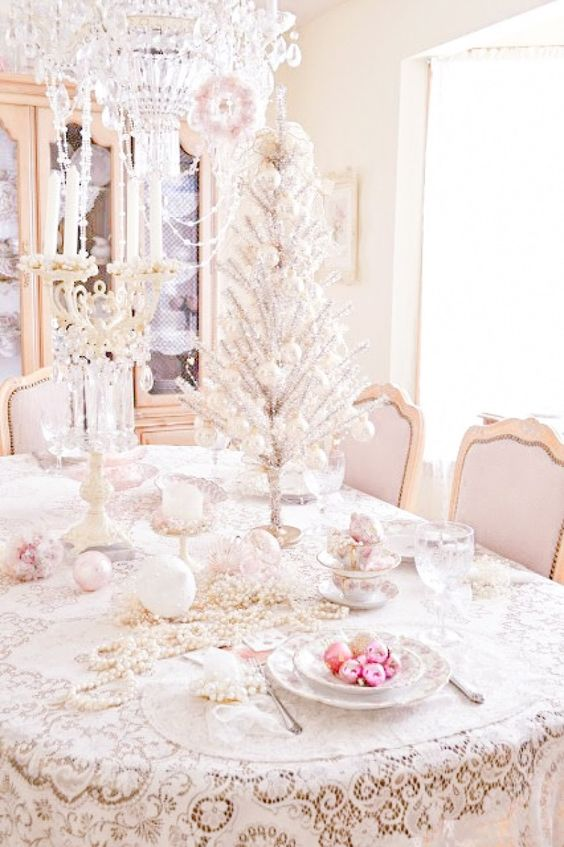 40-shabby-chic-table-setting-with-a-silver-tabletop-tree-pastel-ornaments-and-beads