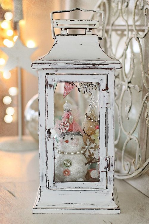 44-whitewashed-lantern-with-a-tiny-bottle-brush-tree-and-a-snowman-inside