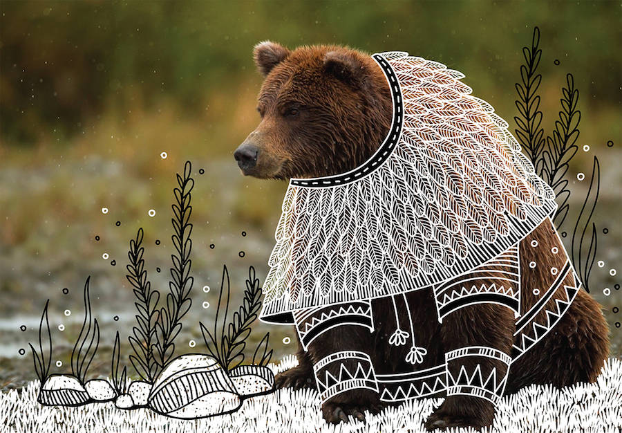 Wild-Animals-with-Funny-Drawings-of-Costumes-0-900x626